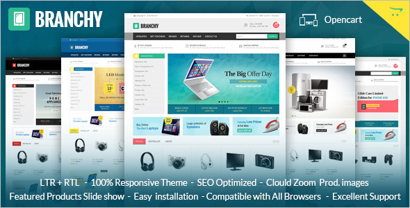 Online Electronics OpenCart Theme