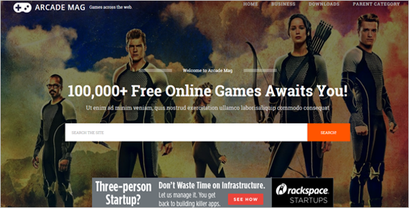 Online Game Blog Free Template