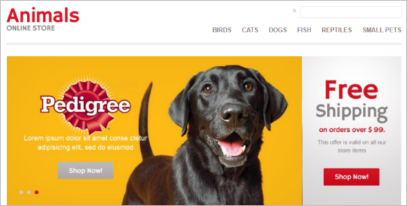 Online Pet Store OpenCart Template