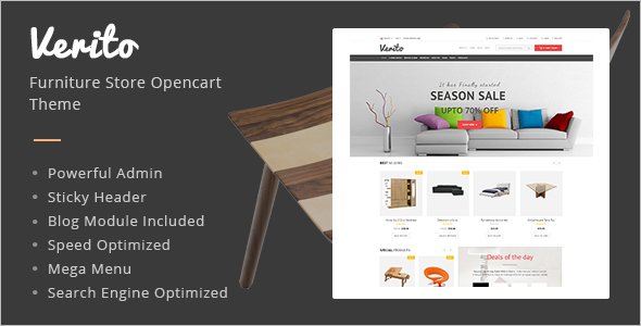 OpenCart Furniture Responsive Template