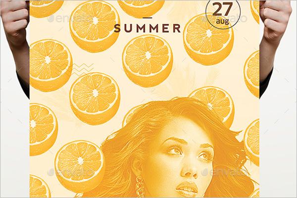 Orange Summer Tropical Pattern