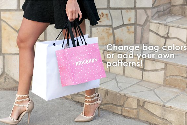 Outdoor Shopping Bag Design Mockup
