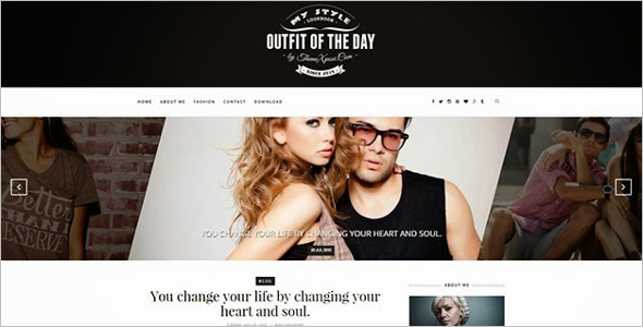 Outfit Free Blog Template