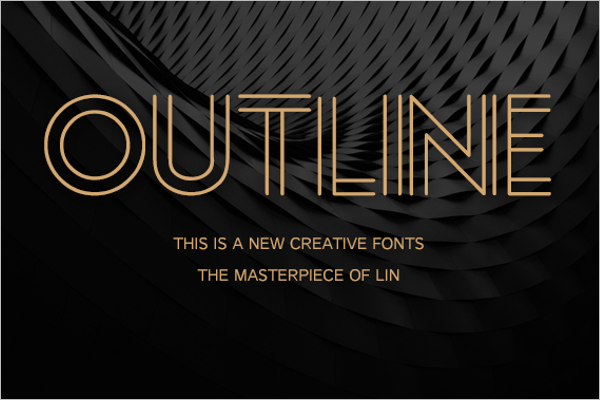 Outline Creative Poster Design
