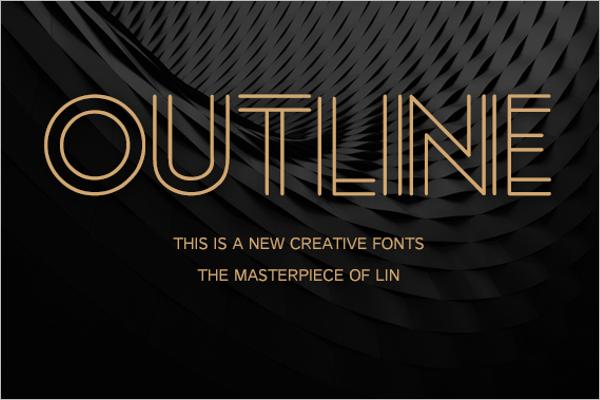 Outline Creative Poster Design
