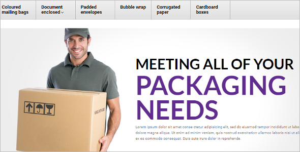 Packing Products OpenCart Template