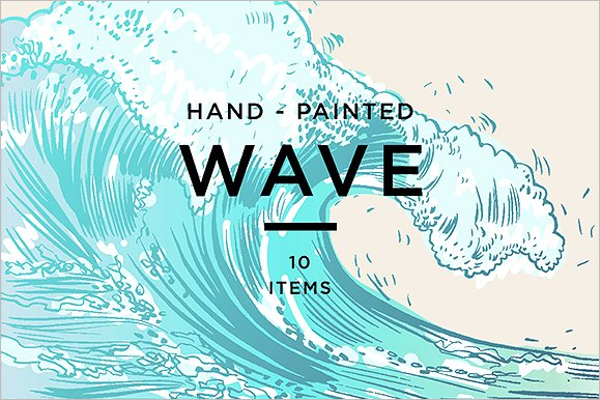 Painted Blue Wave Background