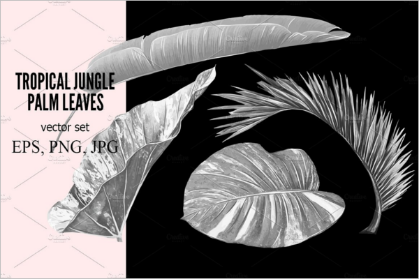 Palm Leaves Tropical Vector Pattern