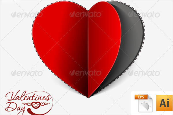 Paper Cut Heart Greeting Card Design