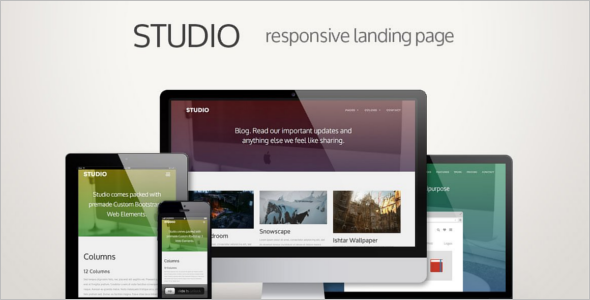 Parallax jQuery Landing Page Effect Template