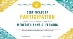 33+ Participation Certificate Templates