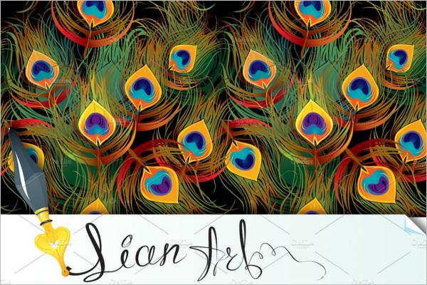 Peacock Seamless Pattern