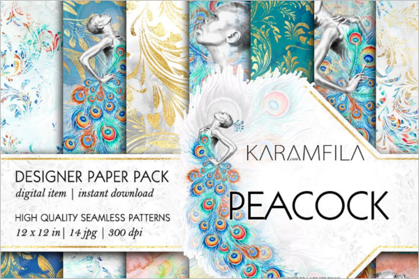 Peacock Seamless Patterns