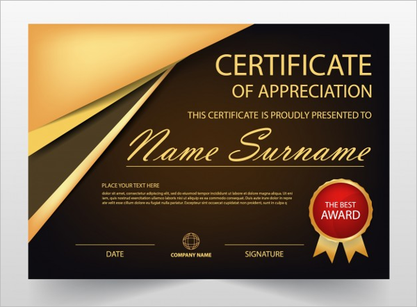 Business certificate templates free premium download performance certificate template wajeb Images