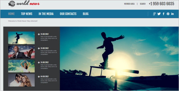 Personal News Blog Joomla Theme