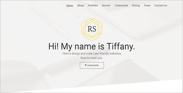 Personal Portfolio HTML Templates