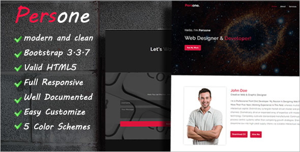 Personal Speciality Pages HTML Template