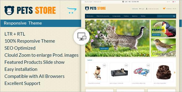 Pet Store E-commerce OpenCart Template