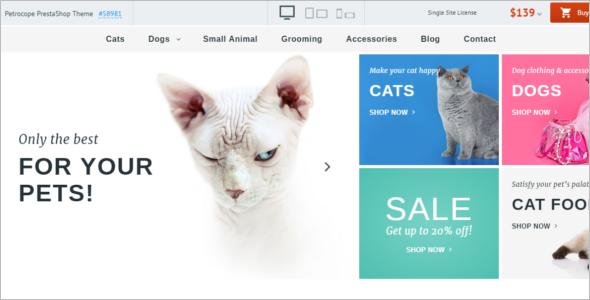 Petrocope Pets PrestaShop Theme