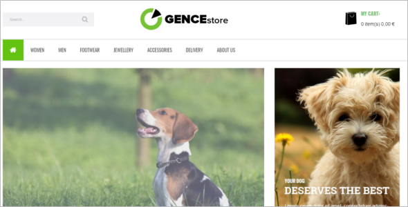 Pets Multi Store Responsive Prestashop Theme