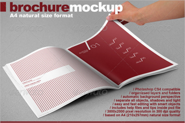 Photo Realistic A4 Brochure Mock-up