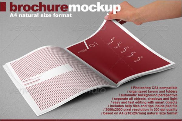 Photo Realistic A4 Brochure Mock-up