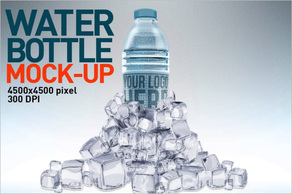 Photo Realistic Cool Water Bottle