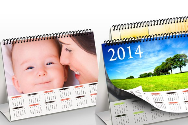 Photo Realistic Desk Calendar Design