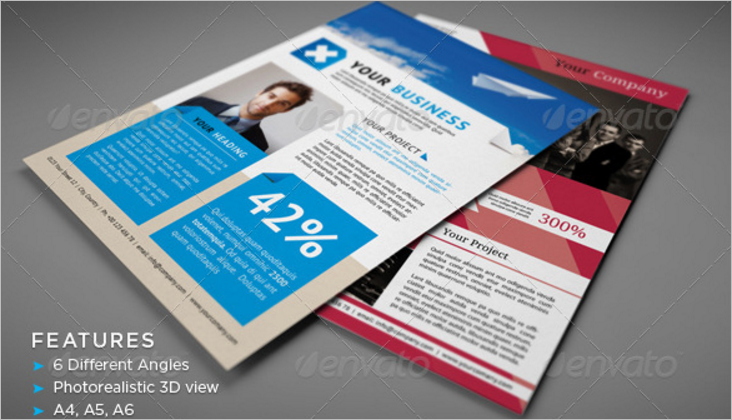 Photo Realistic Flyer Mock-Up Design