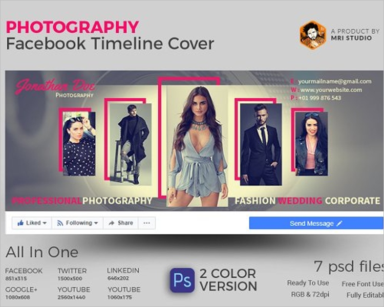Photography Facebook Website Template