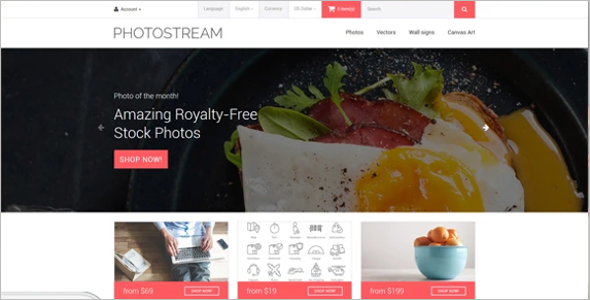 Photosgraphy OpenCart Template