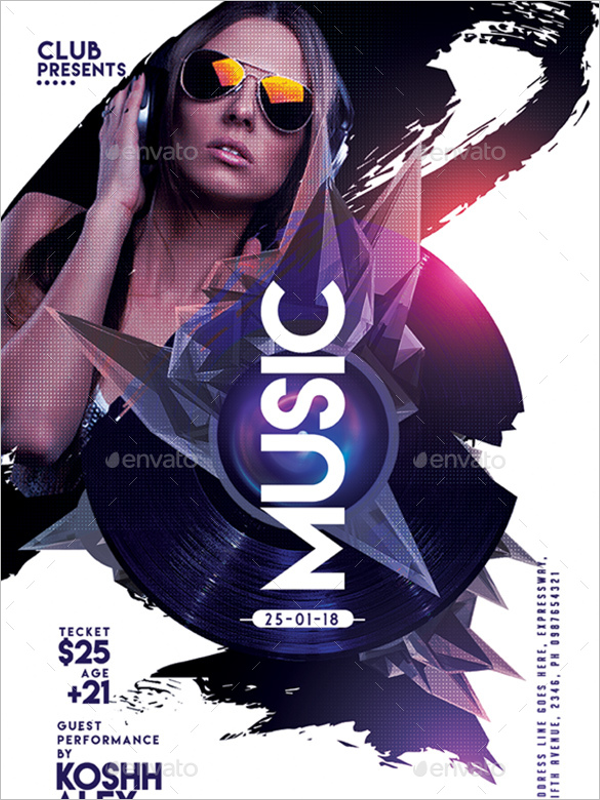 Photoshop Music Poster Design