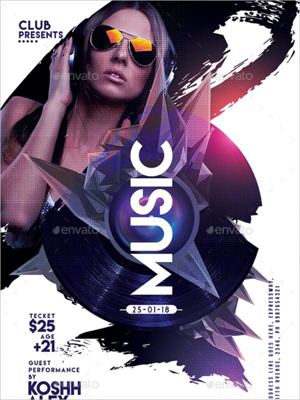 Photoshop Music Poster Design