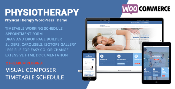 Physiotherapy Woocommerce Template