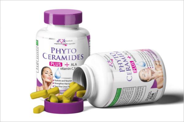 Pill Bottle Mock-Up PSD