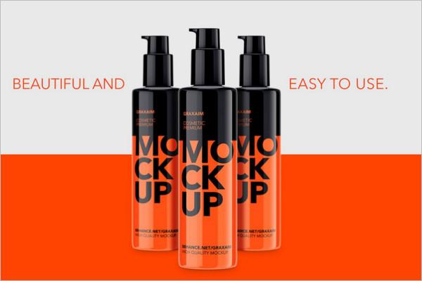 Plastic Cosmetic Pump Bottle