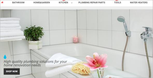 Plumbing Business Megento Theme