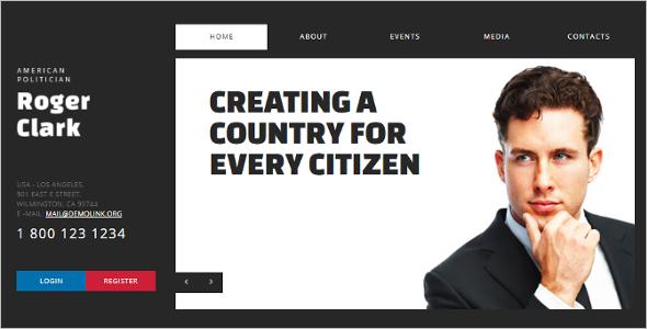 Political Candidate Joomla Template