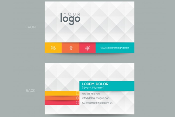Polygonal business card Template
