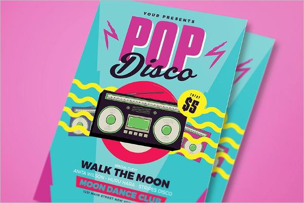 Pop Disco Flyer Template