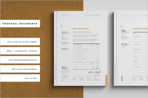 Portfilio Invoice Proposal Template