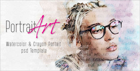 Portrait Sketch PSD Template
