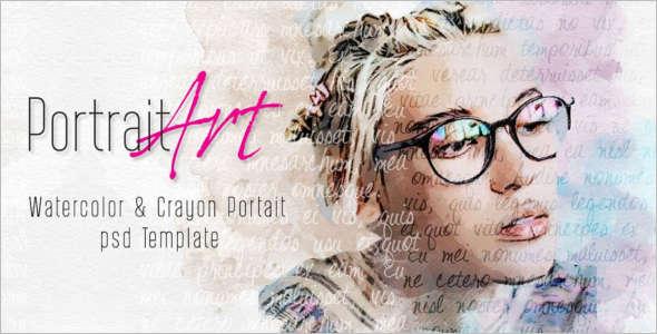 Portrait Sketch PSD Template