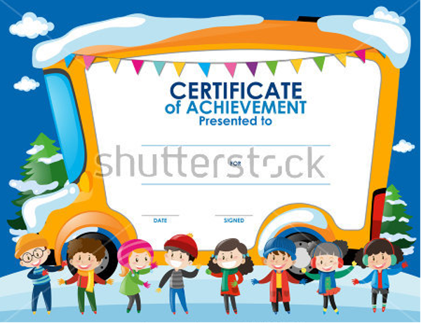 Poster Certificate For Kids