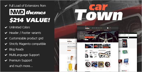 Premium Auto Parts Magento Theme