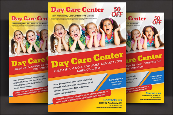 34 daycare flyer templates free example design ideas for Daycare brochure template