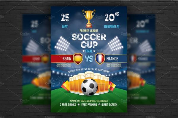 premium soccer flyer template