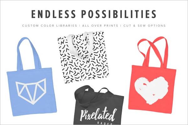 Premium Tote Bag Mockup Design