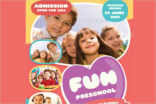 Preschool Register Flyer Template