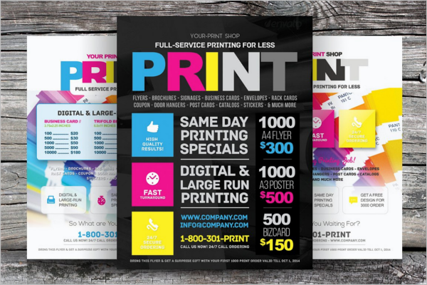 Print Shop Advertising Flyer Template